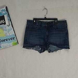 Banana Republic stretchy dark denim jean shorts 6